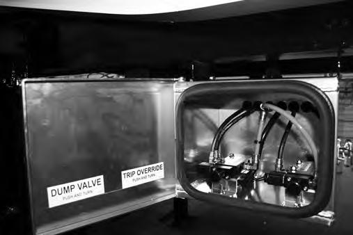 Air System Control Box: All air control systems are equipped with valve(s) being located inside an aluminum valve box to help control contamination from the environments the trailer is working in.
