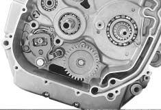 If gear change is not obtained, it means that assembly of gears or installation of gear shifting fork is incorrect.