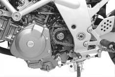 (refer to page -9) Install the breather hose and engine sprocket cover. Connect each electric parts and its couplers.