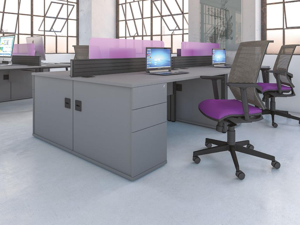 Pure combination desks are supplied with