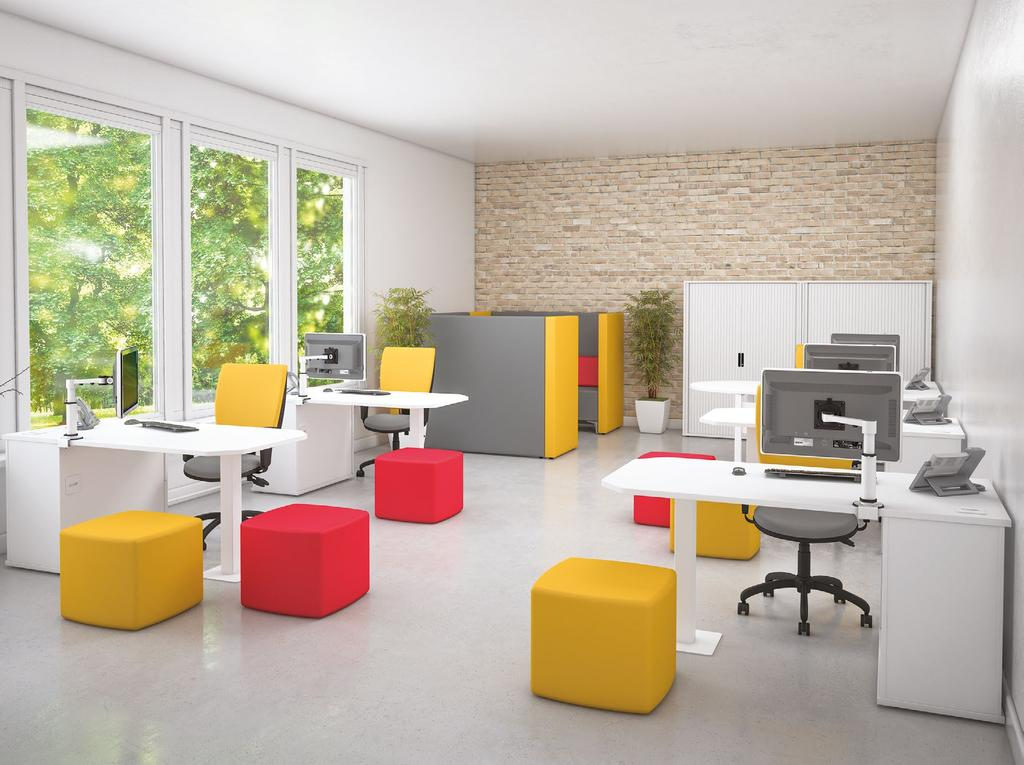 Pure has a range of desk shapes and sizes to suit any