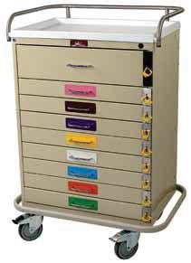 EMERGENCY & CRITICAL CARE CARTS CLASSIC LINE PEDIATRIC RESUSCITATION CARTS Standard Model, High Quality 6400PEC Nine Drawer 6401PEC Nine Drawer, Specialty Package Harloff addresses the special