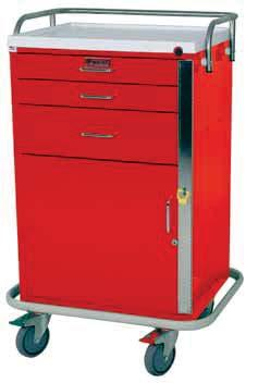 EMERGENCY & CRITICAL CARE CARTS GENERAL PURPOSE LINE Narrower Cabinet for Limited Space 6140 Six Drawer 6130 Five Drawer 6145 Four Drawer Side rail/push handle (6140, 6130, 6140, 6145) Narrower