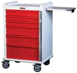 EMERGENCY & CRITICAL CARE CARTS MR-CONDITIONAL CARTS Can be used in 3-Tesla MRI environments MRN6B Six Drawer, Narrow MRN6B-EMG Six Drawer, Narrow, Specialty Package MR7B-EMG Seven Drawer, Specialty