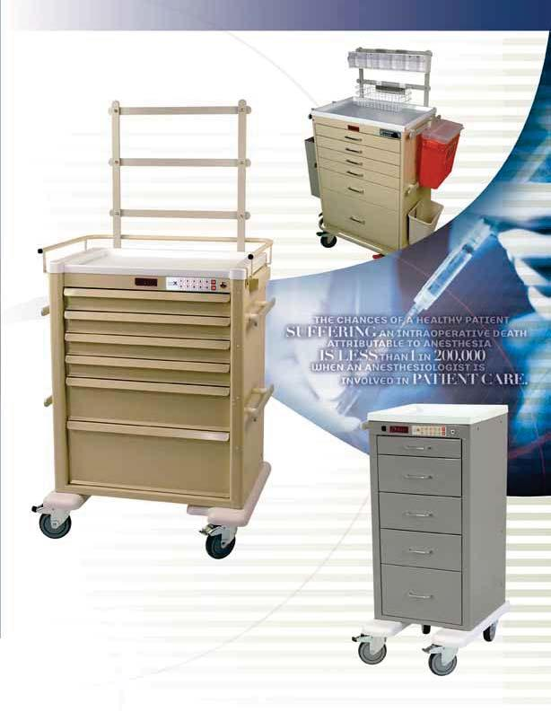 ANESTHESIA CARTS & WORKSTATIONS Harloff manufactures medical equipment used in surgical workplaces that promote