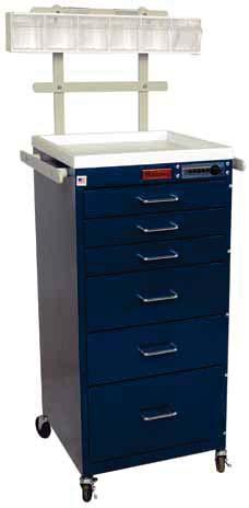 MINI LINE Compact Design, Small Footprint ANESTHESIA CARTS & WORKSTATIONS 3156K Tall Six Drawer 3145M Short Five Drawer, Keyless Entry Narrow design with reduced footprint Suitable for hospitals,