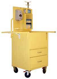 INFECTION PREVENTION & CONTROL CARTS ISOLATION STATION CARTS Reduce the Risk of Pathogen Transmission ISO6550 Isolation Station with Antimicrobial Paint, Open Well Design Isolation Station (patent
