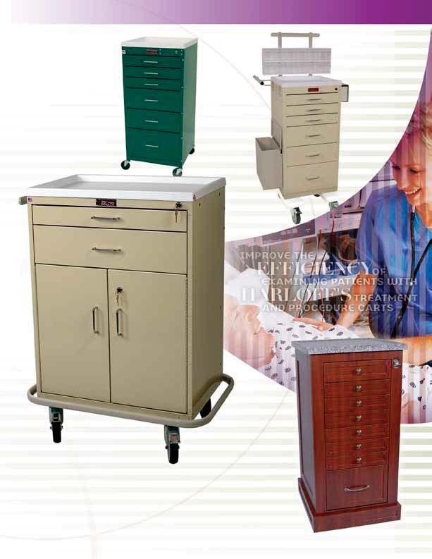 TREATMENT & PROCEDURE CARTS Treatment carts are the perfect solution when you need to store topical ointments; eye, ear, nose and throat supplies; wound care supplies; and other bulkier nursing