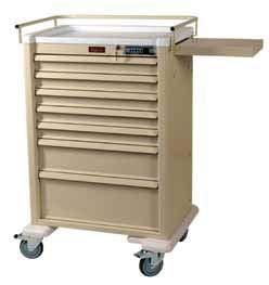 TREATMENT & PROCEDURE CARTS UNIVERSAL LINE Light Weight Aluminum, Modern Design AL808K5 Medium Five Drawer Hospitals can improve patient outcomes by having all the supplies needed in one cart,