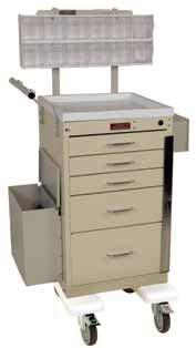 Five Drawer, Breakaway Lock Two cabinet heights - with vertical drawer space of