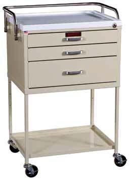 TREATMENT & PROCEDURE CARTS INSTRUMENT CARTS For Bedside Usage 6745 Three Drawers within 18 inch Cabinet 6735