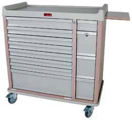 5 inch Bins One size does not fit all Harloff offers a wide selection in medication carts for a