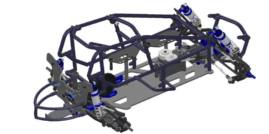 Sprint Cage: Front & Rear Bumpers to