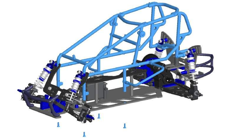 Main Cage to Chassis CAGE POSTS MOUNT