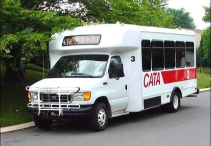 2005 CATA completed the transition: Purchased two Ford CNG-fueled minibuses