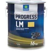 PROGRESS LM SERIES Bearing Greases with Extreme Pressure Additive PROGRESS LM SERIES are lithium soap greases including antioxidant, anti-wear and rust inhibitor additives.