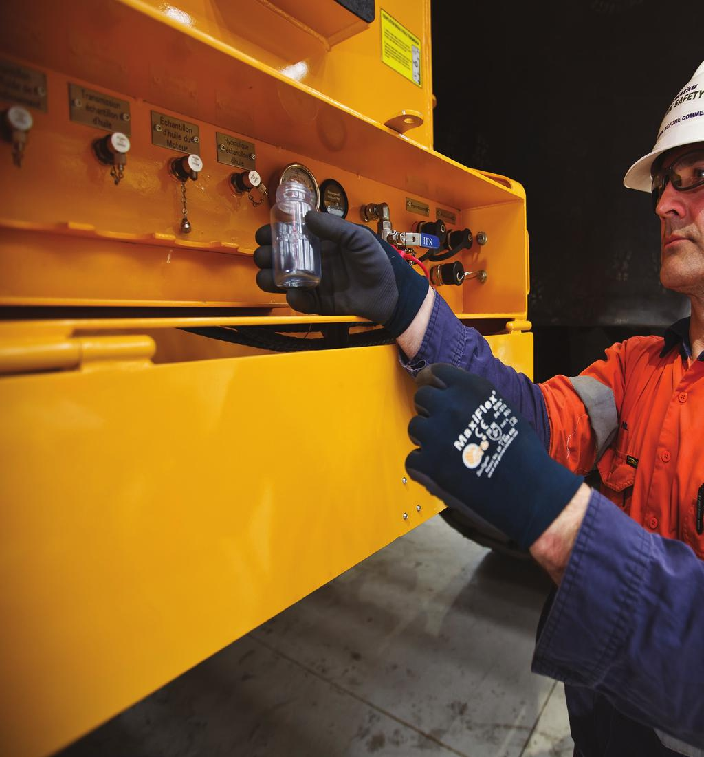 Oil & Wear Analysis Komatsu Oil and Wear Analysis (KOWA) is the spearhead of our Condition Monitoring Services (CMS).
