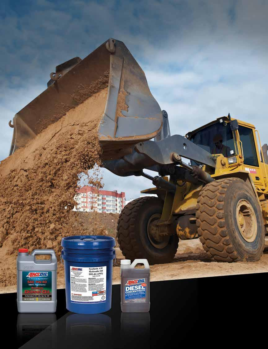 Heavy-Duty Off-Road SYNTHETIC DIESEL OILS SYNTHETIC HYDRAULIC FLUIDS FUEL ADDITIVES AMSOIL
