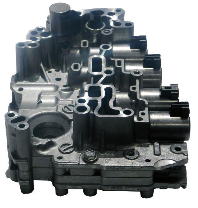 CVT FWD RE0F11A (JF015E) Valve Body Solenoid Identification B G E D C A Does Not Use Ratio Control Motor H I Alpha Description WIT Part #...RE0F11A (JF015E) Valve Body (Cast # APZ)... 323740A A.