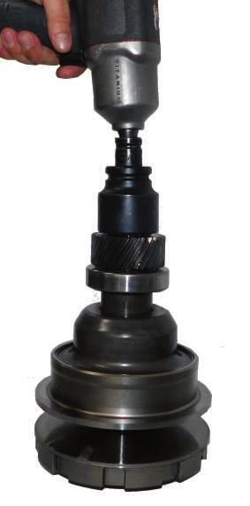 Nissan F10 Series Secondary Pulley Using a socket and an impact gun,