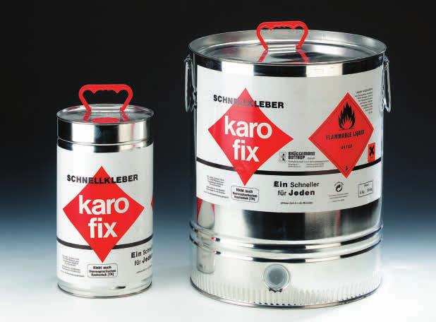 158 000 400 00 Karo Fix rapid cement VE canister 4 kg, 23 kg A 150 202 050 00 Kristall superglue low