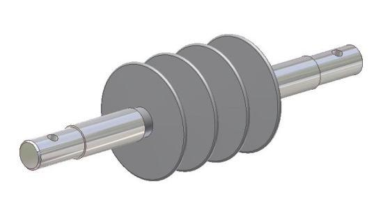 operating mechanism Extension rod with coupling socket for operating rods.