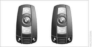 Opening and closing Opening and closing Remote control Each remote control contains a rechargeable battery that is automatically recharged when it is in the ignition lock while the car is being