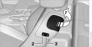 Previous position Push the seat backward and swing the backrest back. When pushing the seat into its rearmost position, make sure that no one is injured and that no objects are damaged.