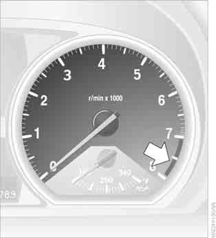 otherwise, there is an increased risk of an accident.< Odometer and trip odometer Resetting the trip odometer: With the ignition switched on, press button 1 in the instrument cluster.
