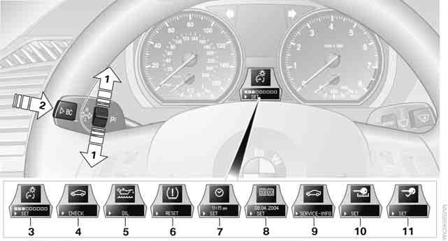 Settings and information Operating principle Certain settings and information can only be made or called up when the ignition is switched on. A number of settings cannot be made while driving.