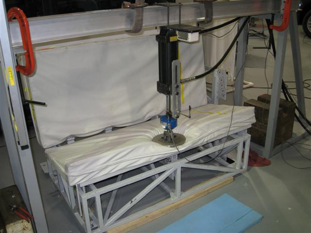 Cushion Test Location Control Parameters for Rear Seats in Sled Tests Based on the ranges of shapes, sizes, and stiffness recorded for the 24 vehicles, the following values were selected to