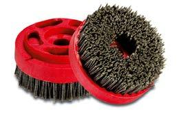 These brushes are used to soften up the surface of tiles that are too rough, or to remove any scratch marks left by the previous honing or lapping steps.