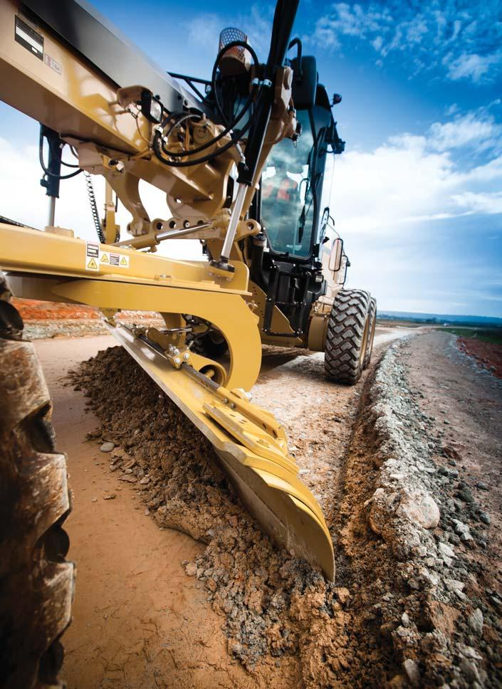 Work Tools and Attachments Equip your machine for the job Moldboard Options The 12M, 140M and 160M motor graders come equipped with a 3.7 m (12 ft) moldboard.
