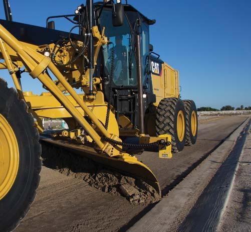 Cat GRADE with Cross Slope Cat GRADE with Cross Slope is an optional fully integrated, factory installed system that helps your operator improve grading efficiency and more easily maintain accurate