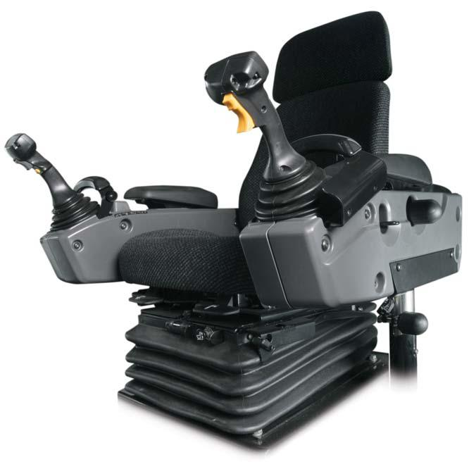 Steering and Implement Controls Unprecedented precision and ease of operation Operators are more comfortable and productive with two electro-hydraulic joysticks.