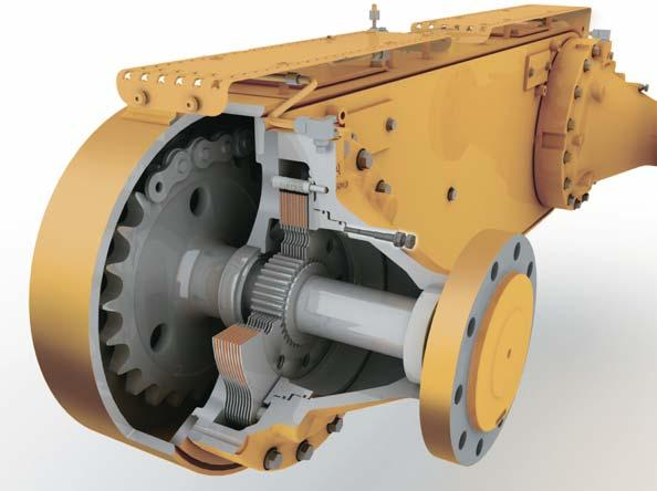 Power Shift Countershaft Transmission is matched to the Cat engine to maximize power to the ground. Wide operating gear range for maximum productivity.