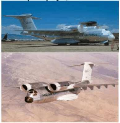 Fig. 19. The Boeing YC-14 use the Coanda effect. Source: (Petrescu and Petrescu, 2011) Fig. 20. The Avro Canada VZ-9 Avrocar was a VTOL aircraft developed by Avro Aircraft Ltd. (Canada).