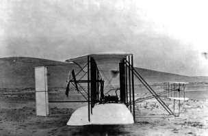 Fig. 1. The Wright Flyer (1903) Source: https://en.wikipedia.org/wiki/wright_flyer#/media/file :First_flight2.jpg The Flyer was a canard biplane configuration.