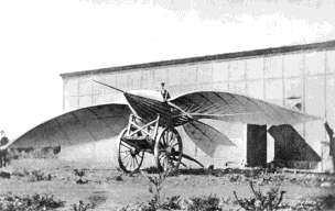 Progress will therefore first go through gliders and the study of aerodynamics. Between 1857 and 1868, the Frenchman Jean- Marie Le Bris successively tries two gliders of his invention (Fig.