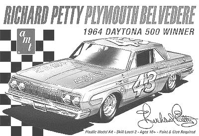 99 989 Richard Petty 64 Plymouth Belvedere 24.99 989 983 AMT Model Kits CARS 1/25 SCALE (Cont) 1002 29 Ford Model A Roadster $29.99 1008 77 AMC Pacer Wagon 24.