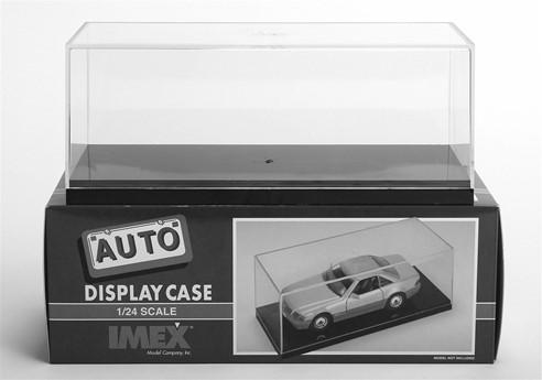 IMEX Display Cases 2500 1/25 Scale Clear Base - 9 5/16 L x 3 3/4 H x 4 W $8.79 2501 1/18 Scale Clear Base - 11 1/2 L x 7 1/16 W x 4 1/2 H 18.