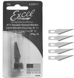 MODELING TOOLS, ACCESSORIES & SUPPLIES EXCEL 15001 #1 Light Duty Knife aluminum w/5 #11 blades 19062 Basic Knife Set: #1 & #2 Knives w/10 Assorted Blades $5.39 11.