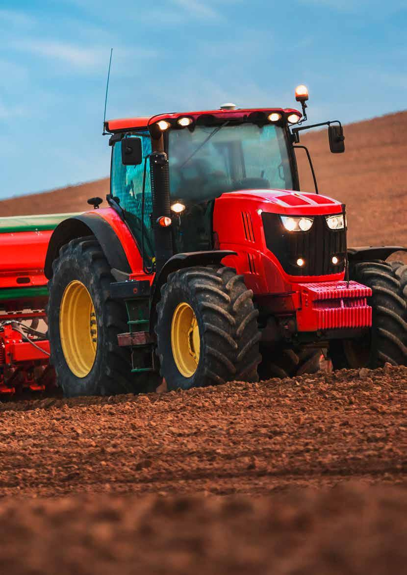4 Lubricants for agriculture 5 Safety during application ARGRIFARM SAFETY IS OUR STRENGTH lubricants have proved extremely successful even under the very toughest conditions and thereby offer the