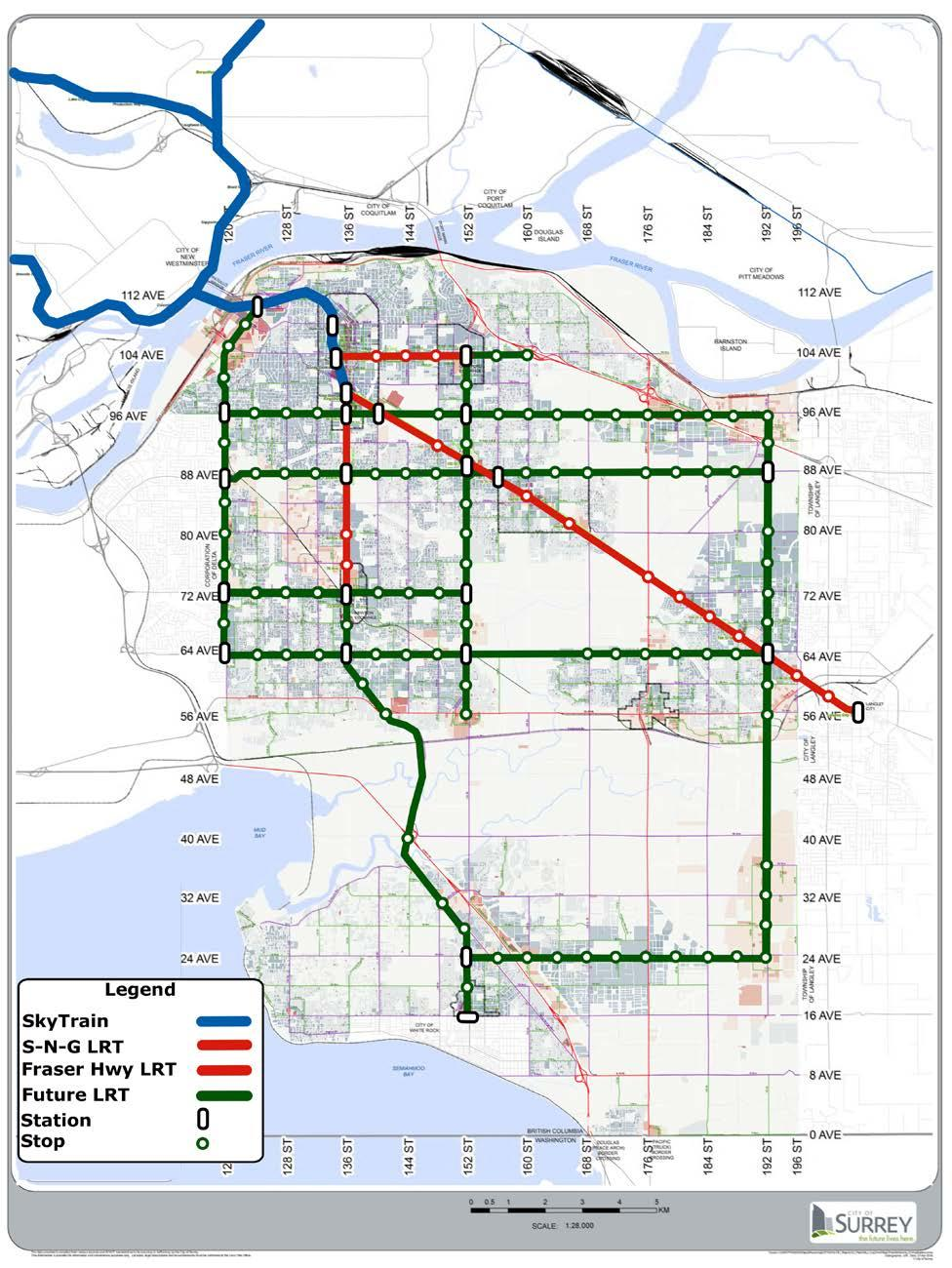 DRAFT for Discussion Concept for the City of Surrey s Long-Range Rapid