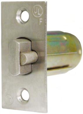 "Series LSL01K 2-3/8"" Dead Latch 1-1/8"" Faceplate BL/BM/BK Series LSL02N 2-3/4"" Spring Latch 1-1/8"""