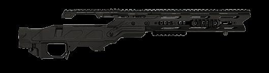 Rugged Law Enforcement sniper rifle system with full rail capability and aluminum detachable base.