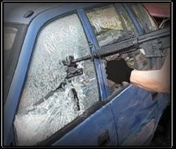 breaking glass under different tactical conditions.