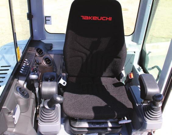 TAKEUCHI FLEET MANAGEMENT - 2 Year Standard Service - Minimize Downtime - Remote Diagnostics - Utilization Tracking - Proactive Maintenance - Control Costs UNDERCARRIAGE AND FRAME - Triple Flanged