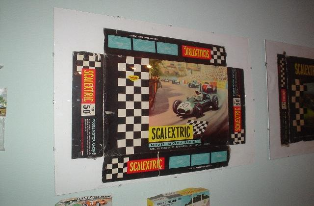 Box for Scalextric Set 50 from approximately 1962-63.