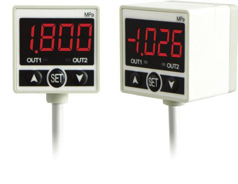 Digital Pressure Sensor SALIENT FEATURES IP 65 enclosure Hysteresis Adjustable Programmable Pressure unit Dual Digital & Voltage Outputs Wide measurement range 1~10 bar Model